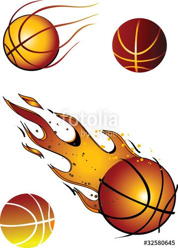 358x500 Flaming Basketball Vector Clip Art Stock Image And Royalty Free