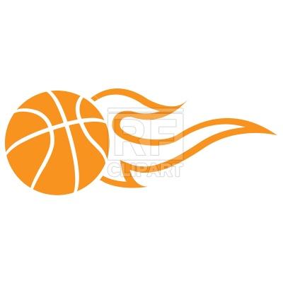 400x400 Symbolic Flaming Basketball Ball Royalty Free Vector Clip Art