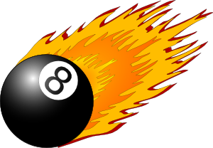 300x208 Ball With Flames Clip Art