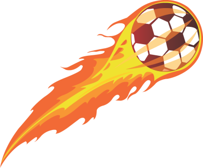 400x331 Flaming Soccer Ball Clipart