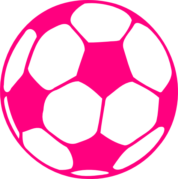594x597 Hot Pink Soccer Ball Clip Art