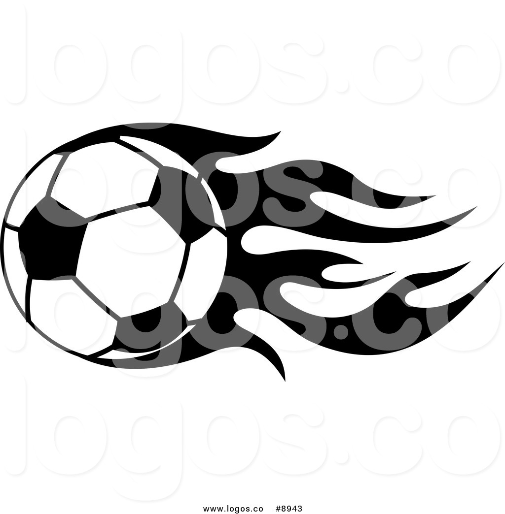 1024x1044 Royalty Free Clip Art Vector Logo of a Fast Black and White Soccer