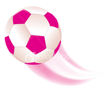 380x322 Soccer clipart pink