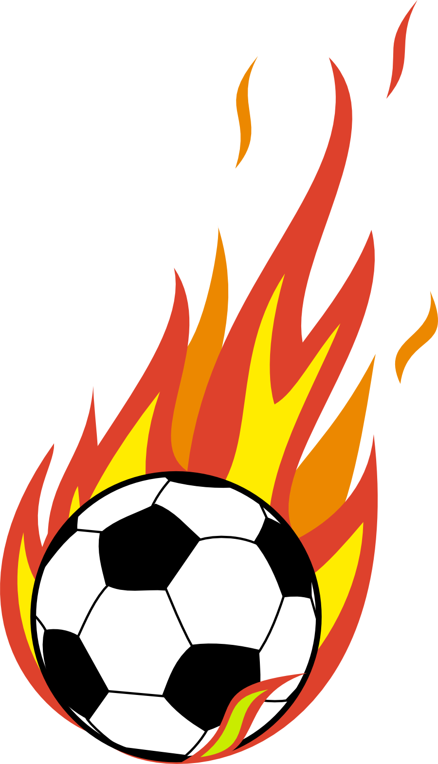 900x1571 Sports Clipart Soccer Ball with Flames Clipart Gallery ~ Free