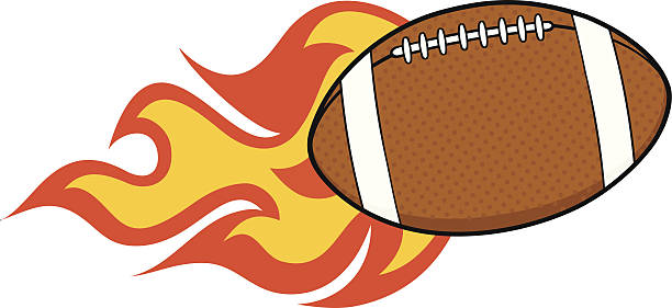 612x281 flaming football clipart