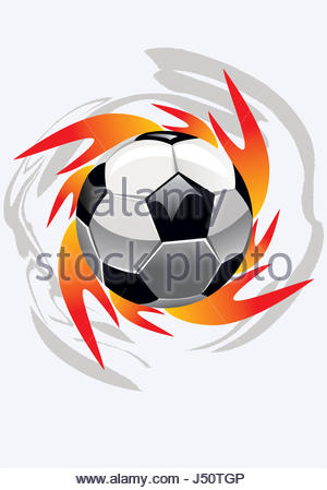 300x449 Fire ball on black. Vector illustration clip art Stock Photo