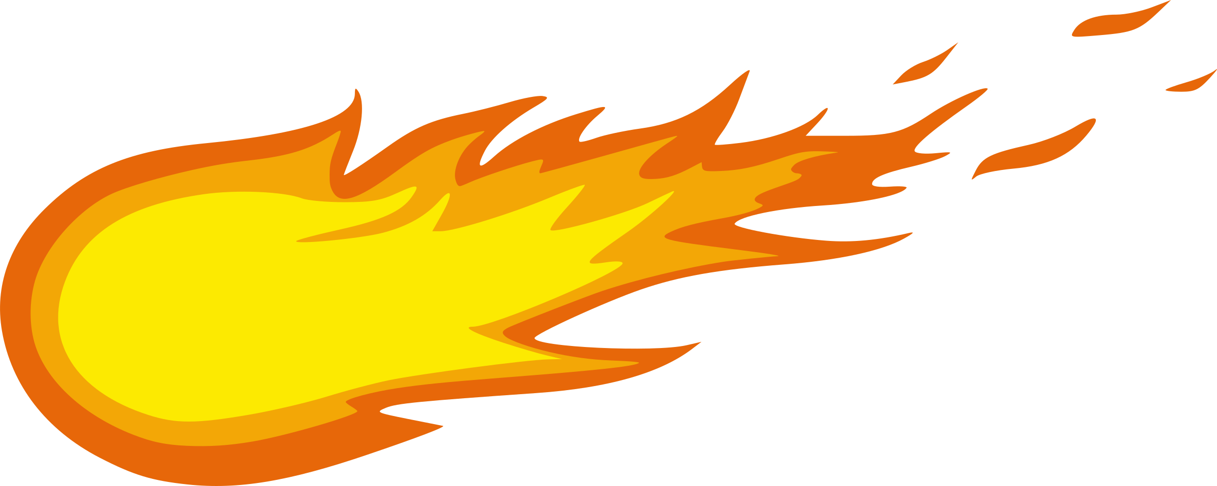 2400x958 Flame clipart fireball