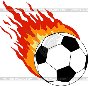 300x294 Flaming Soccerball Clipart