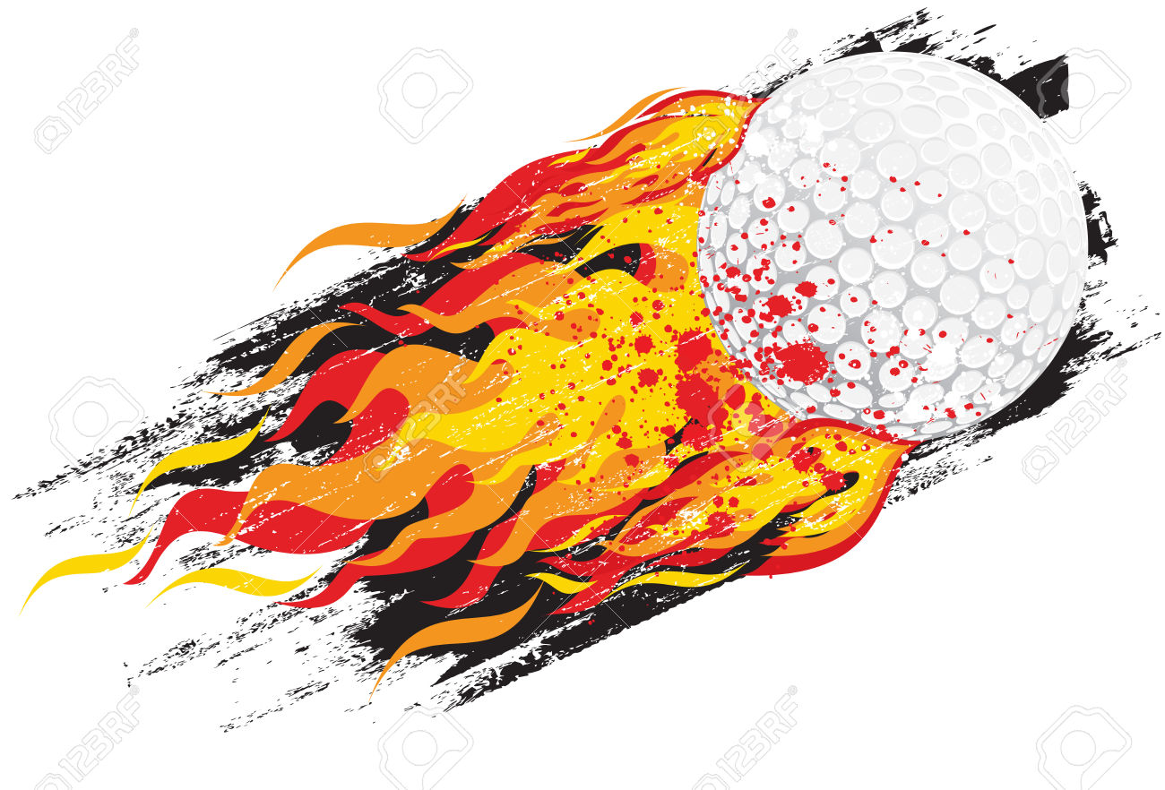 1300x882 Flaming Golf Ball Clipart