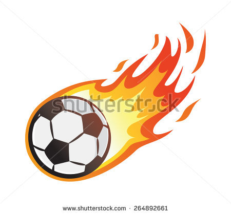 450x418 Flaming Soccer Ball Clip Art