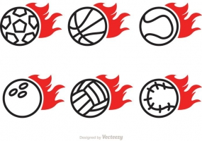 285x200 Flaming Soccer Ball Free Vector Graphic Art Free Download (Found