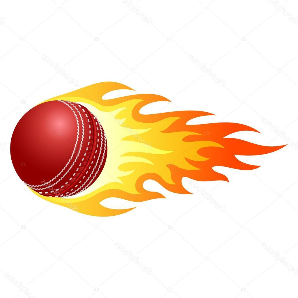 1024x1024 Top 10 Stock Illustration Flaming Cricket Ball Library