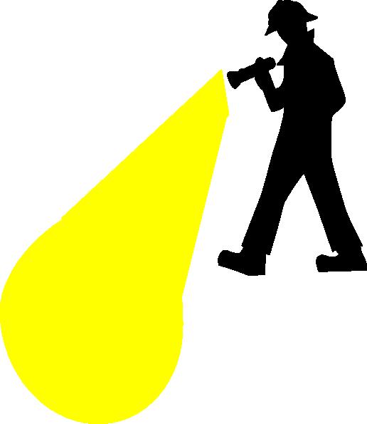 516x595 Flashlight Clip Art