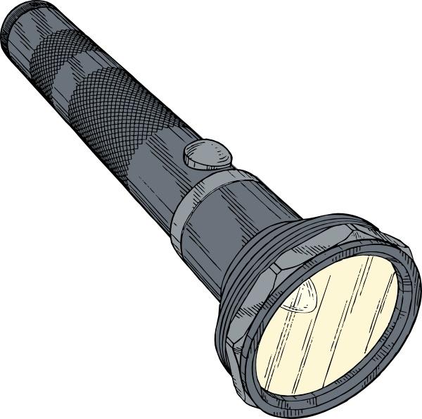 600x595 Flashlight Clip Art Free Vector In Open Office Drawing Svg ( Svg