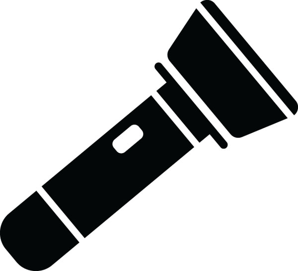 600x545 Flashlight Clip Art For Custom Engraved Products