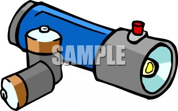 350x218 Royalty Free Clipart Image Batteries And A Flashlight