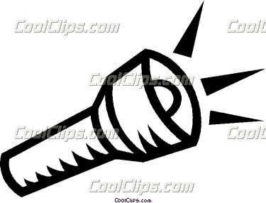 375x286 Black Clipart Flashlight