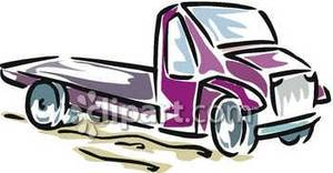 300x156 Empty Flatbed Truck