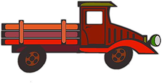 518x265 Flatbed Truck Clipart