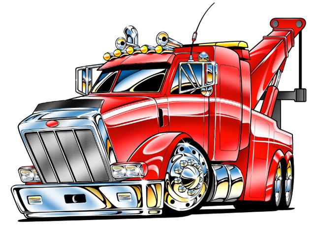 648x461 Kenworth Tow Trucks Clipart