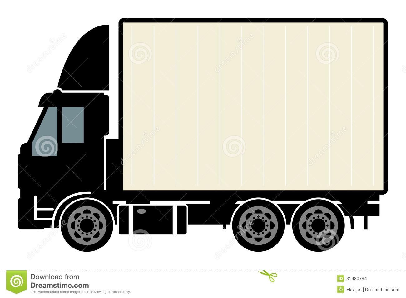 1300x957 Truck Outline Clip Art