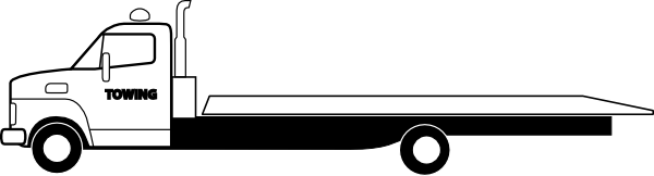 600x162 Truck Clipart Flatbed Trailer
