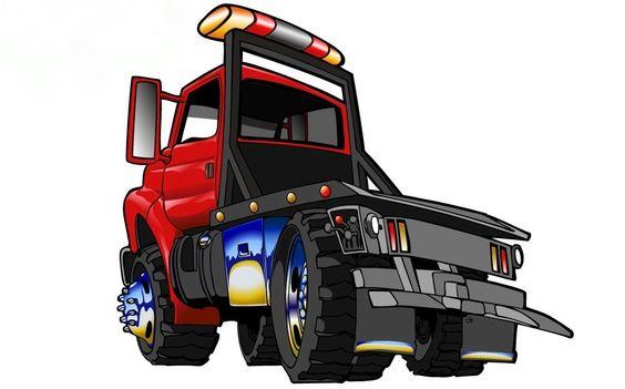 564x351 Cartoon Tow Truck