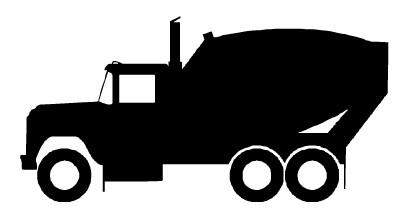 403x215 Concrete Truck Clipart