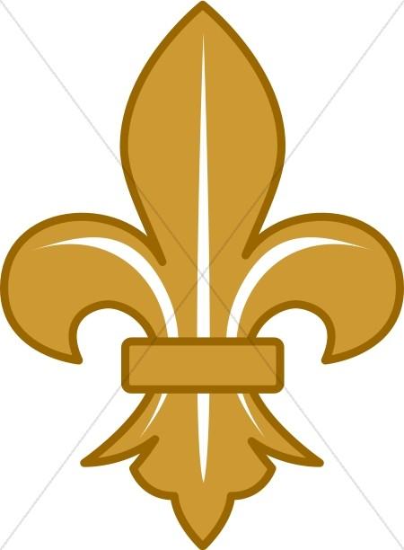 450x612 Gold Fleur De Lis With White Lines Fleur De Lis