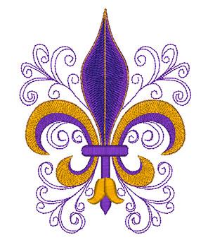 296x350 Mylar Fleur De Lis Purely Gates Embroidery
