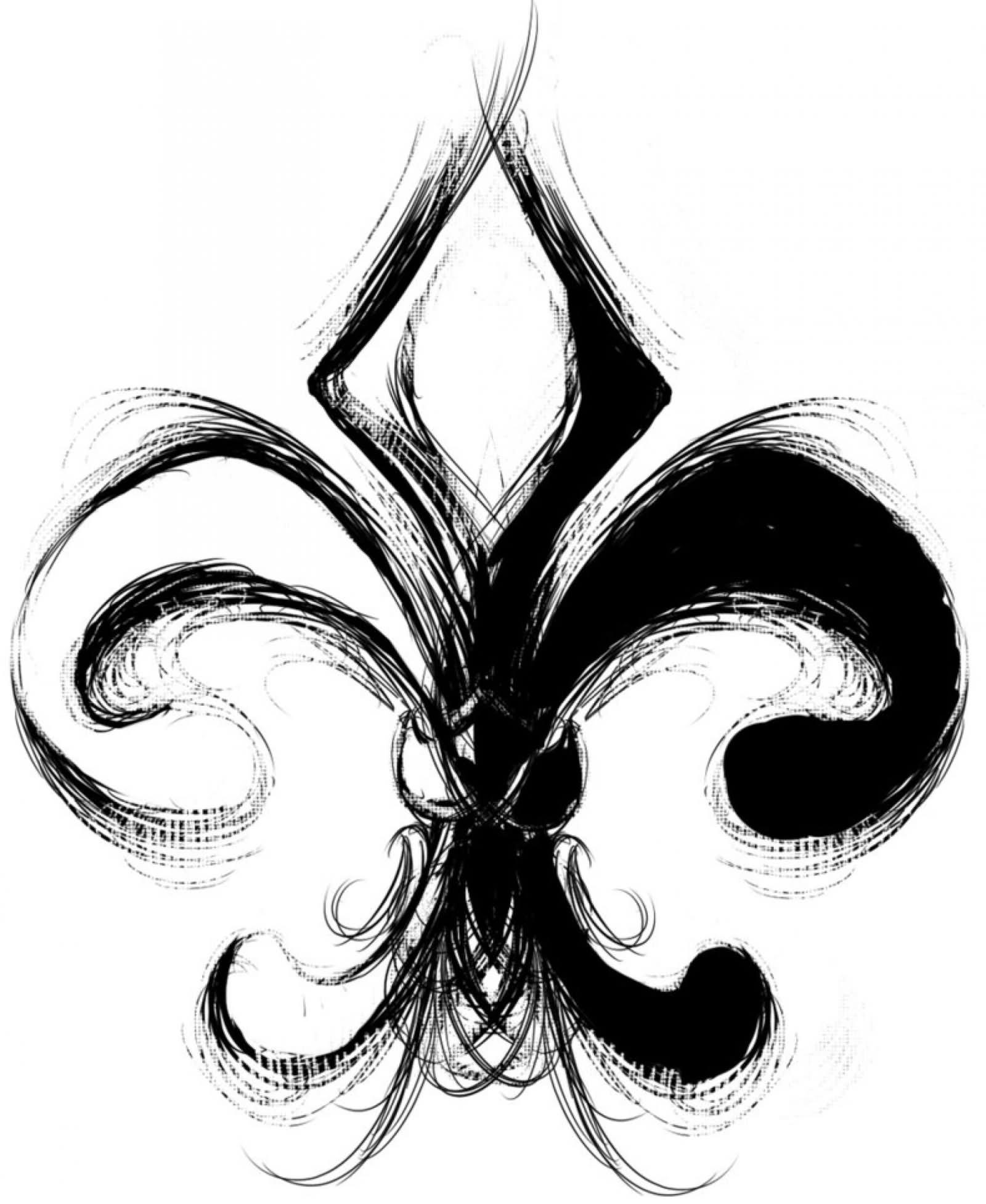 1600x1952 Fleur De Lis Tattoo On Right Back Shoulder By Dreekzilla