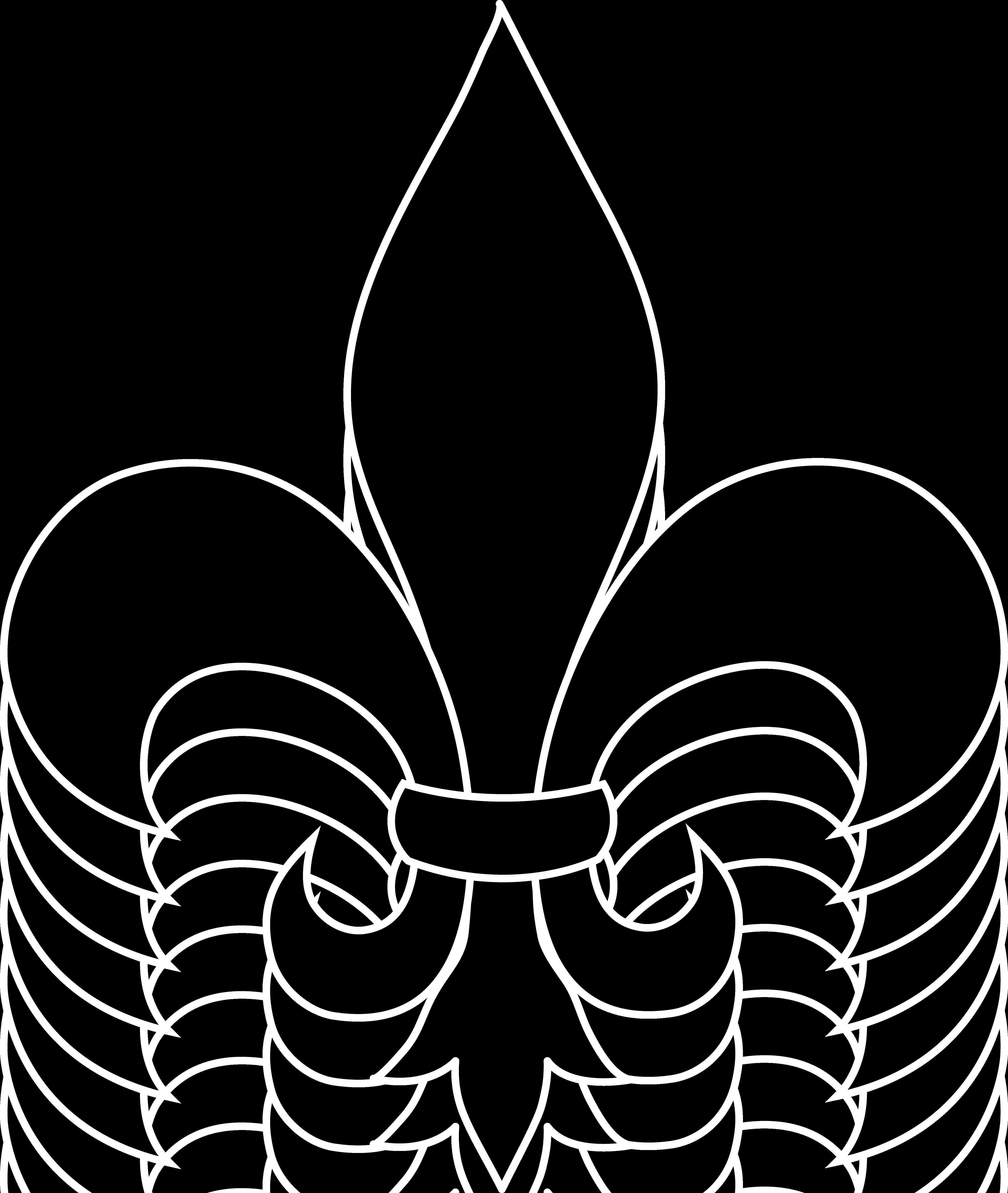 4480x5304 Black Fleur De Lis Silhouette