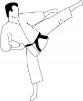 164x200 Karate Kick Clip Art Scanncut Designs Karate Kick