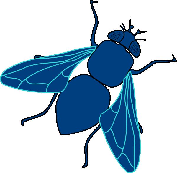 600x588 Blue Fly Clip Art