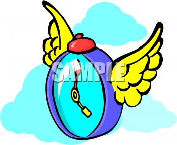 350x287 Royalty Free Clipart Image Metaphor For Time Flies