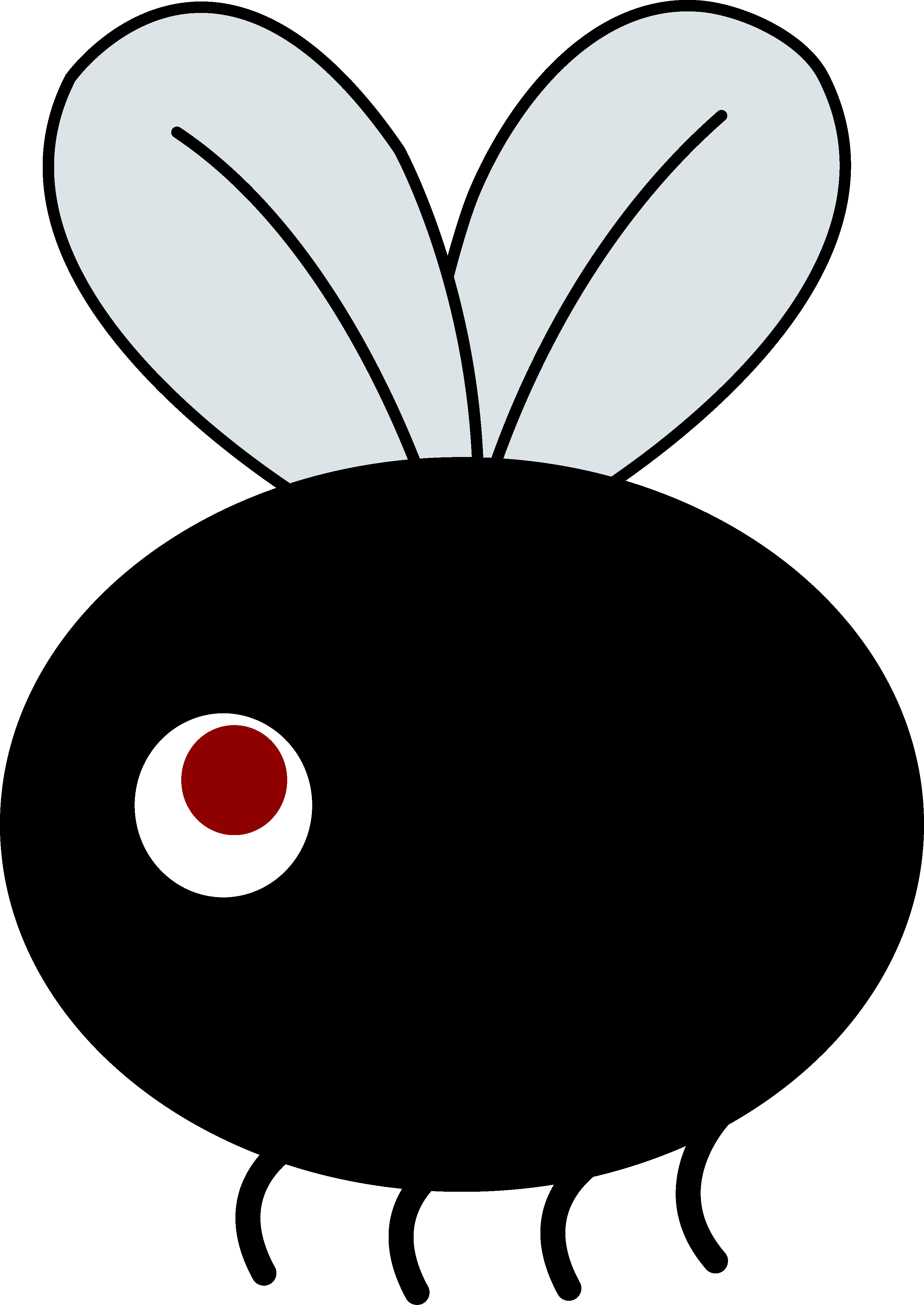 3069x4332 Clip Art Of Small Flies Clipart