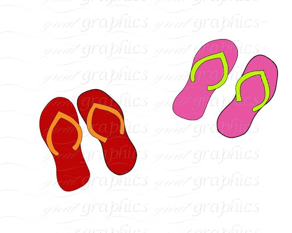 1000x800 Flip Flop Clip Art Flipflop Digital Clipart Flip Flop Flipflops