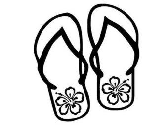 49f6370a84 Flip Flop Clipart Black And White | Free download best Flip Flop ...