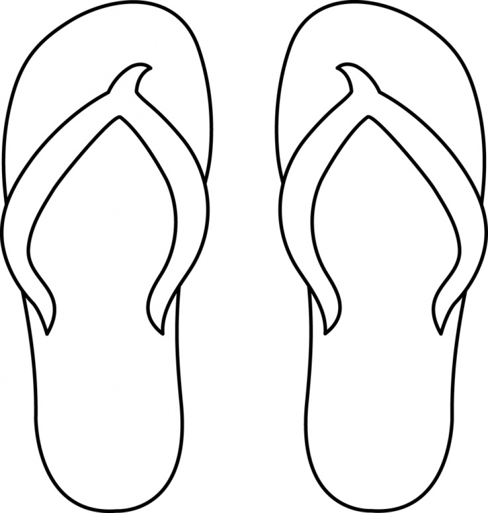 photograph regarding Flip Flop Template Printable known as Turn Flop Drawings Free of charge down load simplest Switch Flop Drawings