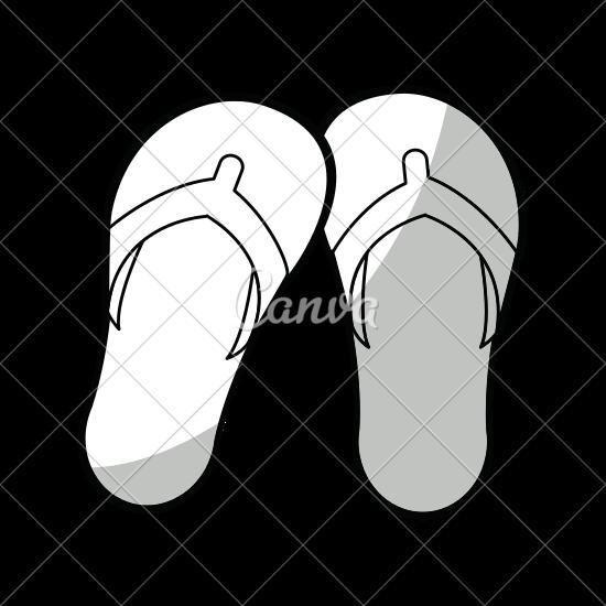 550x550 Flip Flops Isolated Icon