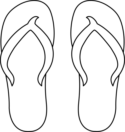 522x550 Flip Flops Clipart Black And White Free Clipart 2