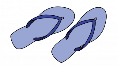 382x215 How To Draw Flip Flops, Shoes, Warderobe, Easy Step By Step