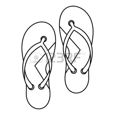 450x450 Brazilian Flip Flops Icon Vector Illustration Design Royalty Free