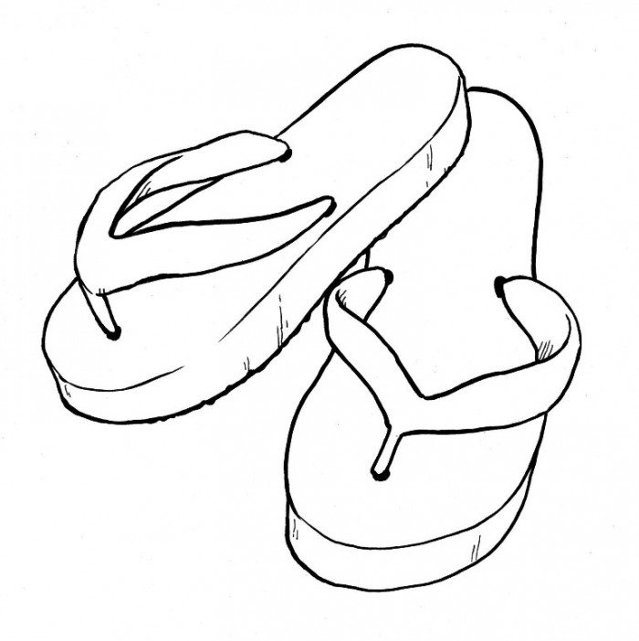 picture relating to Flip Flop Template Printable identified as Convert Flops Drawing No cost obtain excellent Convert Flops Drawing