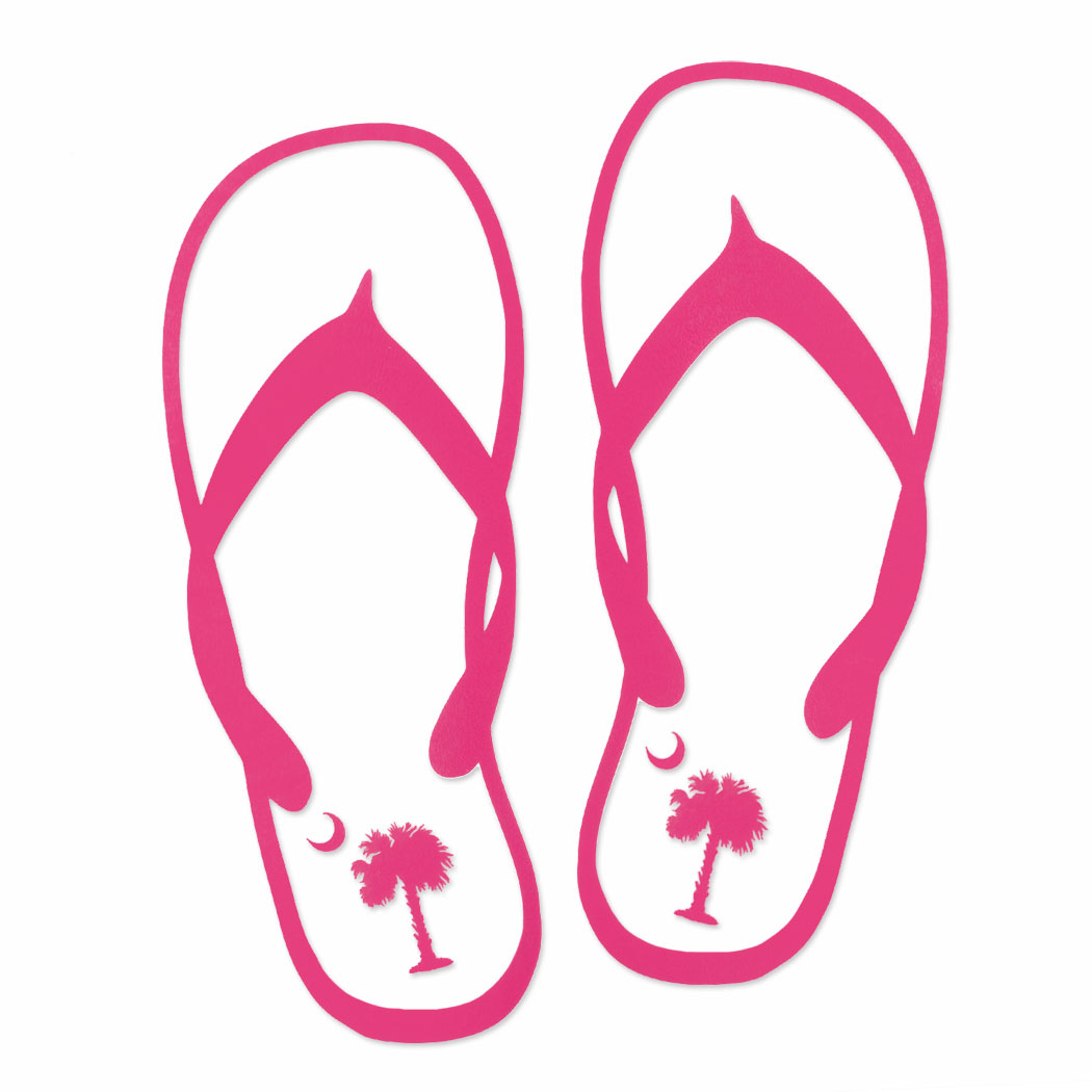 1050x1050 Flip Flops On The Beach Clipart