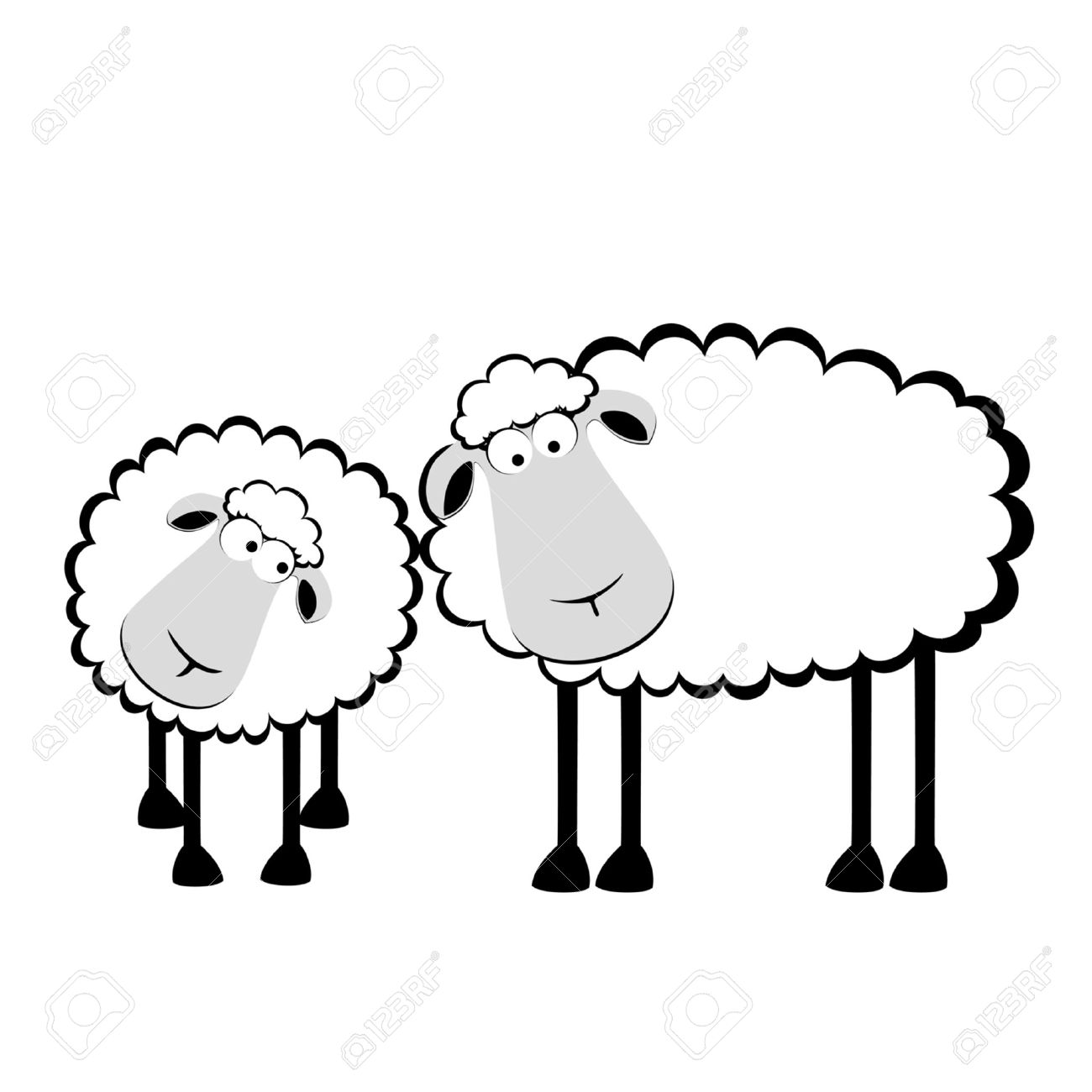 1300x1300 Drawn Sheep Herd Sheep