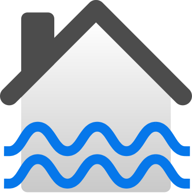 389x391 Fileflooded House Icon.svg