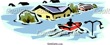 375x153 Flooded Clipart