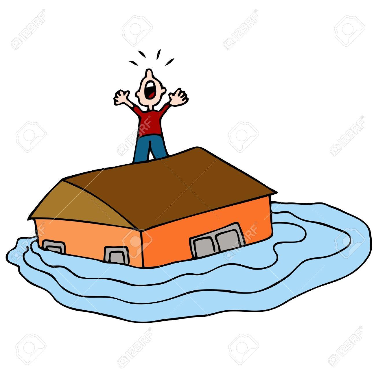 1300x1300 Flooded Clipart Flooded House