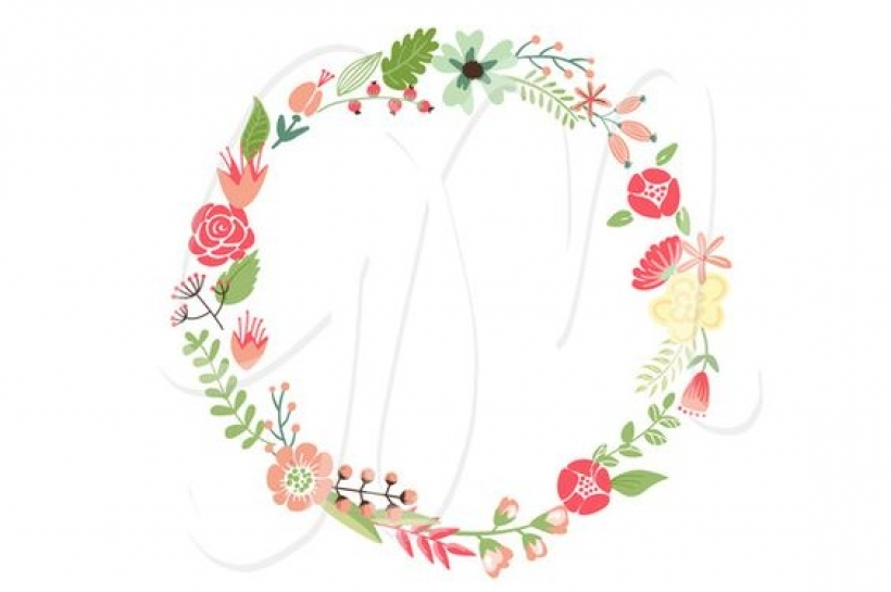 820x545 Floral Wreaths Clip Art And Flowers Floral Wreaths Stationary